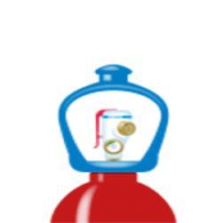 alphagaz™ 2 wasserstoff flasche smartop